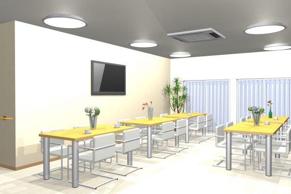 食堂兼談話室(イメージ)